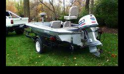 I have a sixteen feet fiberglass fishing boat. The boat is made by Hafeman boat works. I have titles for both the trailer and the boat. Trailer is in fantastic condition and has nice rollers and bunks. Tires are in attractive shape. The motor on the boat