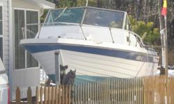 1977 CHEASAPEAKE 21 footer night pleasure boat, grandy white overnighter complete boatyou can go on line and see the specifics of engine etc, comes with a 1989 eazy load trailer sold as istwo seats, radio , antena nice cabin inside engine can be a nice