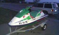 1993 SeaDoo XP & Trailer !Ready to go!It's been completely checked out by my mechanic. We put in a new Battery and we took the oiler out so now it is 2-stroke. I did think about redoing the seat vinyl, but that's why I'm asking what I am. If you want me