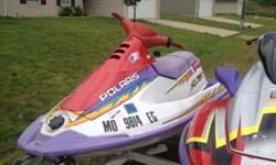 This is a great running Polaris jet ski. It has new plugs, battery, and a full service. no time to ride it so its for sale! Did have it out twice this year so she's ready to go!
