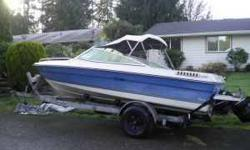I've got an 1985 Searay. 19feet closed bow, 120hp mercruser, brand new gps fishfinder and down riggers included. Asking price $1500 obo. I will also take a trade off with the boat and an RV. If interested please email at (click to respond) or call