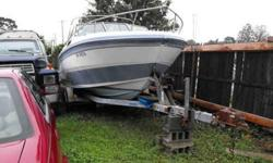 23' glastron. need floor. floor is wide open & fairly easy to do. 350 4 bolt main motor. motor & drive have 1 season on them but the boat has not been used for about 6 years. this is a great handling boat & fast. any questions call 631-495-7353