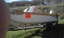 well this boat is new vary little time on it just took it 0ut of 1 of my good old friend basment..he past away in 2008,,and his wife ask me to get it out and sell it,so here it is..I put new steering cable in it new spark controle box..and a water pump