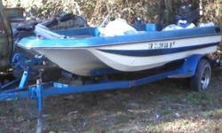 16 ft fishing boat, depth finder, 85 hp motor, trolling motor, live well, etc --- ready to hit the water - last ran in beginning of August