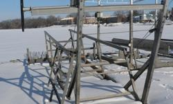 Shoremate Pontoon Lift, very good shape and working condition. For boat lengths of 22 ft or less. 2500lb Capacity, Cantilever StyleDelivery, installation, canopies and accessories are available. Located at Beaver Dam Bay Marina in Dodge County. Will hold