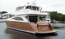 """2007 Marquis 65 SKYLOUNGE Very attractively priced within the market. Beautifully appointed with a spacious layout, this 65' Marquis rivals that of Yachts in the 70+ foot range.Fresh Alexseal """"Sahara Gold"""" hull paint in November 2012.With her upgraded CAT"""