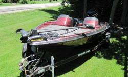 This ia a very nice (but not new by any means) bass boat. Still in very good condition inside and out. There is no AM/FM radio in it, but does have a location for it. The motor was 100% rebuilt last year and I have the documentation for the repair work.
