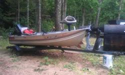 I have a 12 FT Sea Nymph Aluminum V-Hull fishing boat with an 1993 8HP Evinrude motor and boat trailer. The motor is very clean and runs strong. I don't really have time to fish anymore, so I'm looking to get rid of it, and put the money towards savings.