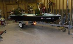 I have a 14' fiberglass boat with 18hp mercury outboard and trolling motor. Runs great has electric and pull start, trolling motor is a motor guide three speed with foot control.Tilt trailer with new winch,tires and wheels and axle. Asking 1600.00 or best