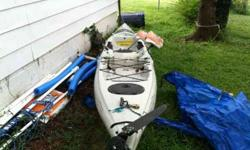 I have for sale 2011 hobie revolution kayak with turbo drive for 1600 obo. I paid over 2000 for it a year ago. Lightly use maybe 10 times since new. This thing will fly on the water. It comes with wheels for easy moving and a two peice paddle and a seat .