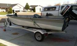 14 feet Valco, 25 horsepower Evinrude, Minn Kota, new gas tank, trailer has 3 new wheels and tires, new hubs and bearing (3rd hub and bearing set), new wiring, new tung jack, new safety chains. Call or text Dustin at 208-608-1621Listing originally posted