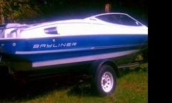 1991 BAYLINER CAPRI PROFESSIONAL SKI & FISHING BOAT. MADE BY US MARINE WITH 170 HP ENGINE (FORCE). NEW SPARK PLUGS ,NEW RADIO, GOOD BATTERY, FLOORS & CARPET ARE IN GREAT SHAPE. COMES WITH VERY NICE GALVANIZED TRAILOR. BOAT WAS IN WATER RECENT. LET'S GO