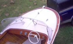 I have a 1961 Thompson lapstrake runabout for sale. It's a 17ft. Has it's original 75 horsepower. Evinrude outboard, and it's on it's original Tee-Nee trailer. The boat is in unrestored,- but VERY ATTRACTIVE condition ! Woundent take much work to get this
