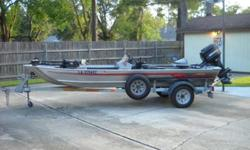 16 Foot Astro Aluminum Bass Boat50 HP Mercury Minnkota 24 Pound Thrust12 Volt Trolling Motor2 Batteries, 2 Gas tanks, Live Well and StorageMotor runs but needs workSpare tire on trailerCash Only - $1800