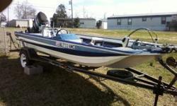 1974 Hydro sport bass boat.