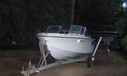 I have a Marquis 18ft inboard/outboard boat for sale. It has the bigger inline four cylinder merCruiser engine which is a 140hp motor. Has electric trim, tow hook for skis, walk through windshield, and storage in the floor for skis and ropes. Boat has