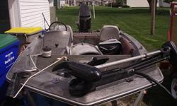 110 mercury outboard gray and maron. fishfinder. ready to fish just had it out last weeked on the 24th of march. Text message me at 260-573-3179