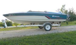 16' Larson Senza V165 open bow powered by an Evinrude 110 V4 with a EZ Loader trailer; this boat runs out great and is easy to launch & handle. The seats are weathered and need to be recovered soon but otherwise a nice all around pleasure/ski/fish boat. I