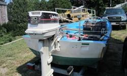 """13' Boston Whaler, with a Johnson outboard. 20"""" stern. Motor runs well!! Boat has new paint. Boat is in all around great shape. A dry boat, with no issues. New Teleflex steering with Destorer SS wheel., Radio, Lamps. $1,900 firm. The trailer is not"""