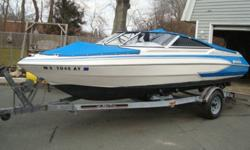 1992 GLASTRON 19' G1900 BOWRIDER & TRAILER IN VERY GOOD CONDITION, NEEDS NOTHING. BOAT WAS USED AS A LAKE BOAT SINCE NEW THAN USED IN THE SALT WATER FOR 2 SEASONS & WAS KEPT. WATER PUMP WAS REPLACED EVERY YEAR WHEN DRIVE WAS SERVICED. TRAILER IS IN VERY
