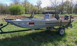 Stracraft 15' boat with Mercury motor E.S. and moody trailer with good tires. Ready to go. Price 1950.00 OBO