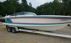 ,.,.,.1989 FORMULA THUNDERBIRD 272 SR1IF YOU LIKE THE 80'S STYLE WITH LOTS OF POWER AND AREN'T AFRAID OF PUTTING SOME WORK INTO A BOAT THIS IS THE JEWEL FOR YOU!PORT ENGINE CRANKS AND RUNSSTARBOARD ENGINE NEEDS AT LEAST A STARTER BOTH ENGINES LOOK FAIR