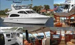 2007 Hatteras 64 MOTOR YACHT Vamonos is a 2007 64MY Hatteras that was custom built for the current owner. This layout is 3 stateroom with 3 Heads plus a crew quarters for two. This yacht is equipped with Twin Cat 1550 engines and Twin 21.5kw Generators.