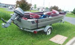 we have a good running Lakeland with a 15 hp mariner feel free to stop in any time between 8