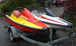 2 great jet skis for your summer fun! Buy now for a really terrific deal. Perfect waverunners for beginners that everyone in the family can enjoy.Everything works, run very well.Call or text Tino at 503-686-4129or text Marilyn at 503-901-9960or call