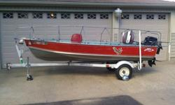 nice clean 1973 14' lund model sv with 1979 20 hp merc short shaft motor min kota trolling motor,white cap wave tamers,anchor mate,two swivel pedistal seats, floor.1976 shore landr bunk tilt trailer has new 530-12 6 ply tires and new ultra-tow greasable