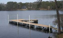 Pre-owned Vibomarine floating dock. Very attractive condition. Non rot, synthetic decking, aluminum frame. 8'shore ramp, one 16' section, two 8'sections. Bench and ladder included. ALL HARDWARE,posts, floats, lamps included. Delivery is available.1995/