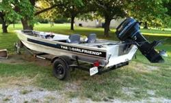 81' 16 feet, ALL ALUMINUM, hand built, larger front deck, reinforced transom, mercury 40hp, heavier alum rear deck, new plastic fuel tank, new bilge pump, aerator, lines,drive cables, battery cables, two batteries new, control panel new, dock pleats new,