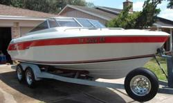"""21 feet Donzi bow-rider, has NEW High Output 350 engine that runs strong, NEW Alpha I Gen II Out drive, have all maintenance records and receipts, looks EXCELLENT, V-berth, AM/FM/Cd system and a upgraded music system featuring (2) 12"""" Sub woofers, (6) 6x9"""
