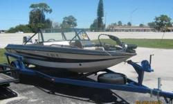 I have a 1986 Stratos 17' bass/ski combo boat. Easy deploy, pedal controlled trolling motor. Two live wells. Walk-thru windshield. Front or rear pedestal seat. Heavy duty trailer. Yamaha 40hp (has 65hp thrust) 1995 model outboard, which runs great and