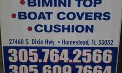 FOAM-BRASS GROMMETS-ZIPPER-VINYL-CANVAS-STAPLES-PVC-AWNING-PILLOWS-ROPE-ECT CALL;305-609-7664----305-764-2566 Listing originally posted at http