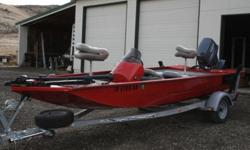 2005 Alumacraft Pro VS170, Sportsman Fiberglass Boat with Johnson 100 Outboard, 16ft Pelican Canoe - Never used FOR SALE via online auction. Start bidding today. Auction closes on Tuesday, March 27th at 1PM MST. 10 % Buyer's Premium will apply. Dlr #1236