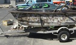 """Livingston 9ft 6"""" Boat on Trailer with Sear Motor, Evinrude 9.5 Boat Motor, Johnson 4HP Boat Motor,& MUCH MORE SPORTING GOODS!FOR SALE via online auction. Start bidding today. Auction closes on Tuesday, July 31st, 2012 at 1PM MDT.10 % Buyer's Premium will"""