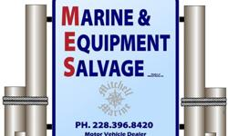 We are now able to accept all major credit cards and debit cards. We have recieved alot of inventory. Anchors, Chum Churns, Boats, Canoe, Fishing Poles, etc. Come in and lets make a deal. Marine & Equipment Salvage 16203 Lemoyne Blvd. Biloxi MS. 39532