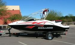 867564s5drftyguhiji..................Sea Doo Speedster 200 Wake Edition with the optional 430hp Twin Rotax supercharged jet drive engines. We have just had this boat serviced and it has just over 100 hours on it.The boat is quite clean showing a little