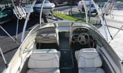 Boat has been tested and inspected, Ready for fun !!Powerful Mercruiser 5.0L V8 EngineAlpha One OutdriveLength - 21FTBeam - 7.8 FtTrailer IncludedWake TowerBimini TopPremium Stereo SystemIn-Floor StorageGreat Family Boat, Well Kept, Normal Wear & Tear,