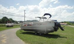 ;;;;2000 Bennington 222 Tritoon with a Yamaha 115 hp 4 Stroke and Galvanized TrailerRuns great (36) mph, good compression, hours unknown, has available warranty on engine, can demo in waterFloor good, transom goodTrades accepted Open 7 Days a WeekHas