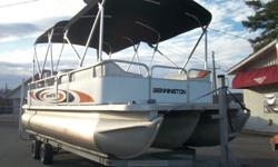 2000 Bennington 22ft Pontoon with a 1998 Yamaha 200 hp VMAX Motor and Tandem axle Galvanized TrailerHas double bimini topPlenty of seating for 10 to 12 peopleStorage under seats and at rearLarge sunpad at rearRear boarding ladder with walk thru