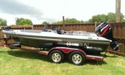 2000 champion fish hunter bass boat with a 2002 Mercury 175 horse EFI runs great the boat is 19 and a half foot has a 107 pound thrust motor guide trolling motor 36 volt has a Lorenz x510c fish finder color graph has two big live wells in the back has two