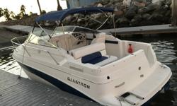 2000 Glastron GS249 Cruiser, partially restored. The boat is in good shape and many things have been replaced and restored. It has a strong 5.7l Volvo Penta engine with a dual prop and plenty of power. Boat is powerful enough to pull a wake or inflatables
