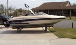 2000 Glastron GX-205 w/ 5.0 Mercruiser & trailer. Boat has 180 hours on it and is in good condition as it has been stored in dry stack at Lighthouse Marina. Options include: Bottom paint, dual battery switch, Kenwood stereo, depth finder, bimini top and