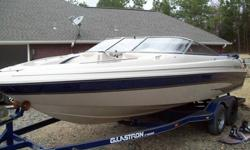 For sale is my 2000 Glastron GX225 ski boat. It is 22.5 feet long. This boat comes with double axle trailer. It has 210 hours on it. It has a Mercury 5.7 Litre (350) 250 HP engine. It runs absolutely perfect. It has a new foot and prop. (No I didn't hit