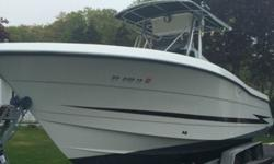 2000 Hydrasport Vector 26 foot Center Console. This boat is Super Clean, turn key boat that is fully rigged with all electronics and fishing equipment such as : Outriggers, Radar, Garmin GPS, Raymarine Dragon Fly GPS, Sonar fish finder as well as a