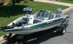 2000 Javilin 17FS Venom Fish/nSki boat equipped with a 115HP Johnson oil injected outboard and factory matching trailer. This is a very clean and well equipped low hour boat. The interior and carpet are all in excellent condition. The exterior of the boat