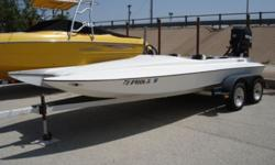 UP FOR AUCTION IS A SUPER CLEAN 2000 MODEL 18' LIBERATOR STEALTH 4 SEAT SPEEDBOAT. THESE BOATS ARE MADE TO GO FAST. ALTHOUGH WE DO NOT KNOW THE TOP SPEED ON THIS ONE WITH THE 225HP MERCURY, WE DO KNOW THAT WITH A 300HP MERC THESE BOATS WILL DO OVER 125