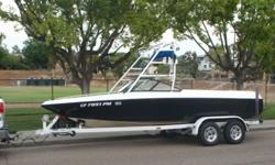2000 Malibu Wake setter VLX v drive tournament boat. Boat is in good condition, with many upgrades. Indmar Malibu Monsoon fuel injected 325hp motor is running like a top. Just took this beauty out for a week and added 15 hrs of run time for a total of